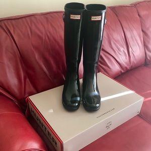 Hunter Rain Boots, Black, Size 10